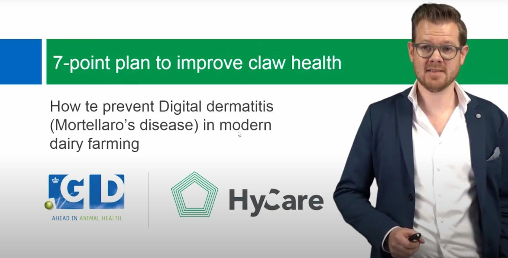 Webinar Royal GD & HyCare: Digital Dermatitis problems in dairy